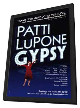 Patti Lupone Gypsy (Broadway) - 11 x 17 Poster - Style A - in Deluxe Wood Frame