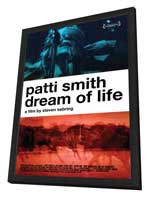 Patti Smith: Dream of Life - 27 x 40 Movie Poster - Style A - in Deluxe Wood Frame