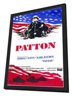 Patton - 11 x 17 Poster - Foreign - Style A - in Deluxe Wood Frame