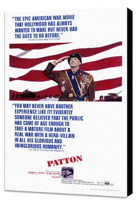 Patton - 27 x 40 Movie Poster - Style A - Museum Wrapped Canvas
