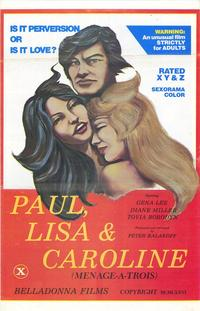 Paul, Lisa & Caroline - 11 x 17 Movie Poster - Style A