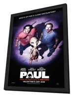 Paul - 11 x 17 Movie Poster - UK Style A - in Deluxe Wood Frame
