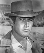 Paul Newman - Paul Newman Portrait in Classic with Hat