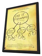 Pay It Forward - 27 x 40 Movie Poster - Style A - in Deluxe Wood Frame