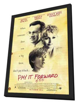 Pay It Forward - 11 x 17 Movie Poster - Style C - in Deluxe Wood Frame