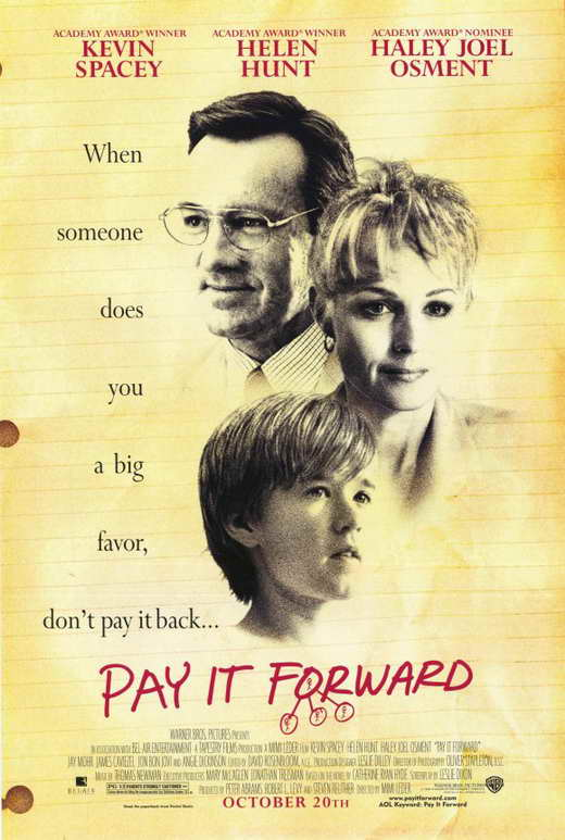 Essay on the movie pay it forward