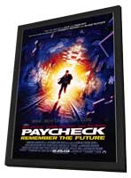 Paycheck - 11 x 17 Movie Poster - Style A - in Deluxe Wood Frame