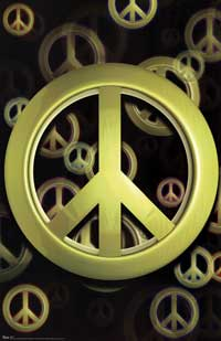 Peace Symbol - Art Poster - 22 x 34 - Style C