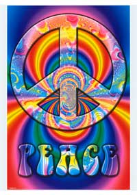Peace Symbol - Art Poster - 24 x 36 - Style A