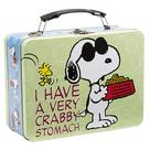 Peanuts - Snoopy I Have A Very Crabby Stomach Large Tin Tote