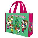 Peanuts - Happy Holidays Christmas Large Shopper Tote
