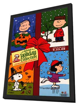 Peanuts - 11 x 17 TV Poster - Style A - in Deluxe Wood Frame