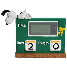 Peanuts - Snoopy and Woodstock Scoreboard Desk Clock