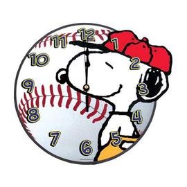 Peanuts - Snoopy Baseball Wall Clock