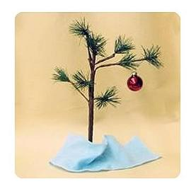 Peanuts - 14-Inch Tree with Ornament and Blanket Display