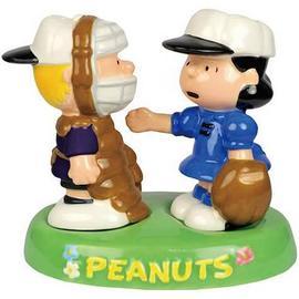 Peanuts - Lucy & Schroeder Baseball Salt & Pepper Shaker Set
