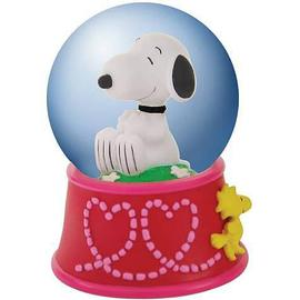 Peanuts - Snoopy with Woodstock Hearts Water Globe