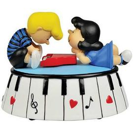 Peanuts - Lucy and Schroeder Piano Love Musical Mini-Statue