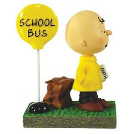 Peanuts - Charlie Brown Bus Stop Mini-Statue