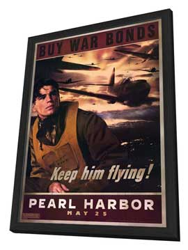 Pearl Harbor - 27 x 40 Movie Poster - Style E - in Deluxe Wood Frame