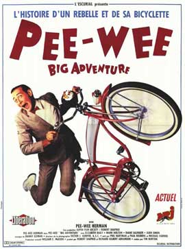 Pee wee's Big Adventure - 11 x 17 Movie Poster - French Style A