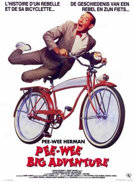 Pee wee's Big Adventure - 11 x 17 Movie Poster - Belgian Style A