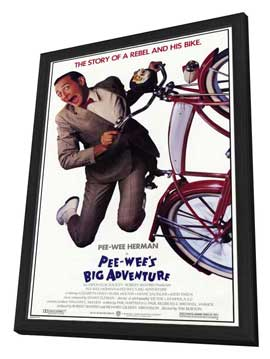 Pee wee's Big Adventure - 27 x 40 Movie Poster - Style A - in Deluxe Wood Frame
