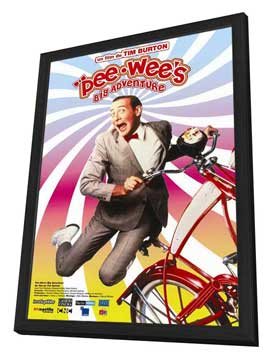 Pee wee's Big Adventure - 27 x 40 Movie Poster - French Style A - in Deluxe Wood Frame