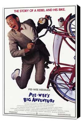 Pee wee's Big Adventure - 27 x 40 Movie Poster - Style A - Museum Wrapped Canvas