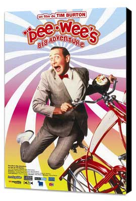 Pee wee's Big Adventure - 27 x 40 Movie Poster - French Style A - Museum Wrapped Canvas