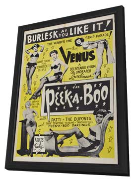 Peek-a-boo - 27 x 40 Movie Poster - Style B - in Deluxe Wood Frame