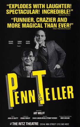 Penn & Teller (Broadway) - 11 x 17 Poster - Style A