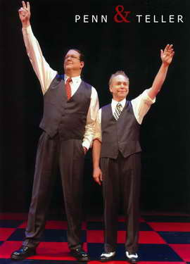Penn and Teller - 11 x 17 Movie Poster - Style D