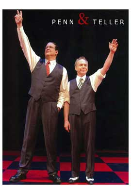Penn and Teller - 27 x 40 Movie Poster - Style D