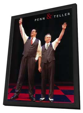 Penn and Teller - 11 x 17 Movie Poster - Style D - in Deluxe Wood Frame
