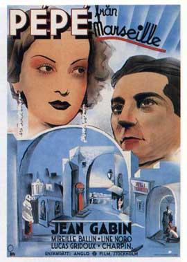 Pepe le Moko - 11 x 17 Movie Poster - Swedish Style A