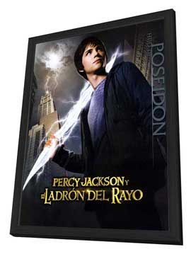 Percy Jackson & the Olympians: The Lightning Thief - 27 x 40 Movie Poster - Spanish Style D - in Deluxe Wood Frame