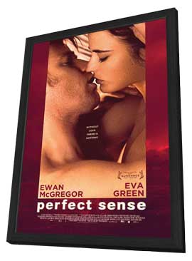 Perfect Sense - 27 x 40 Movie Poster - Style B - in Deluxe Wood Frame