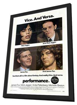Performance - 27 x 40 Movie Poster - Style A - in Deluxe Wood Frame