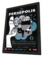 Persepolis - 27 x 40 Movie Poster - French Style A - in Deluxe Wood Frame