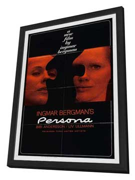 Persona - 11 x 17 Movie Poster - Style A - in Deluxe Wood Frame