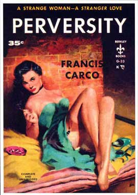 Perversity - 11 x 17 Retro Book Cover Poster