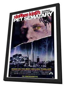 Pet Sematary - 27 x 40 Movie Poster - Style A - in Deluxe Wood Frame