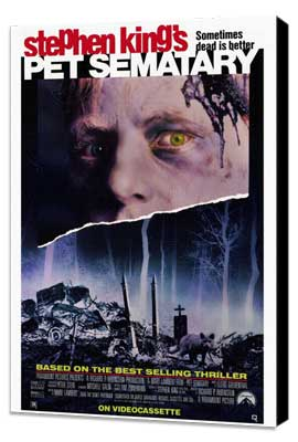 Pet Sematary - 27 x 40 Movie Poster - Style A - Museum Wrapped Canvas