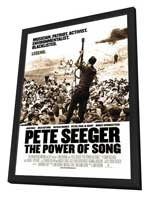 Pete Seeger: The Power of Song - 27 x 40 Movie Poster - Style A - in Deluxe Wood Frame