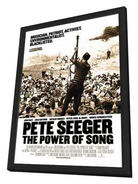 Pete Seeger: The Power of Song - 11 x 17 Movie Poster - Style A - in Deluxe Wood Frame