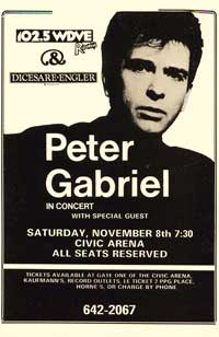 Peter Gabriel - Music Poster - 11 x 17 - Style A