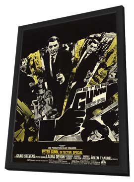 Peter Gunn, Special Detective - 11 x 17 Movie Poster - Belgian Style A - in Deluxe Wood Frame