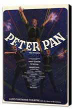 Peter Pan (Broadway) - 27 x 40 Movie Poster - Style A - Museum Wrapped Canvas