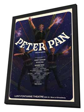 Peter Pan (Broadway) - 27 x 40 Movie Poster - Style A - in Deluxe Wood Frame